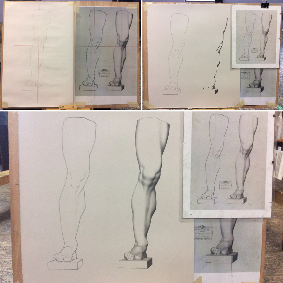Leg construct and silhouette - process work
