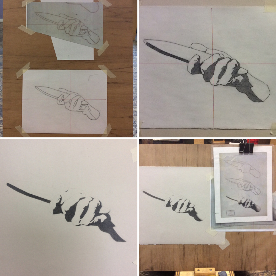 Hand construct and silhouette - process work